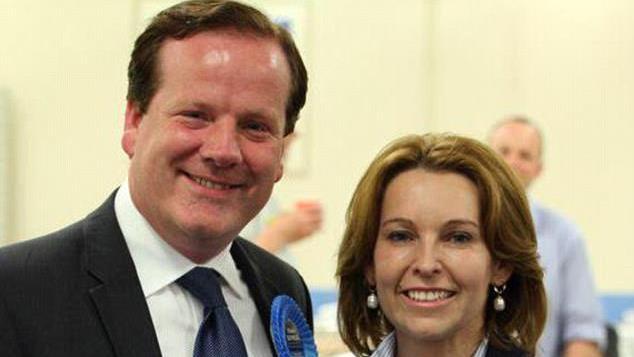 Denial: Mr Elphicke and wife Natalie