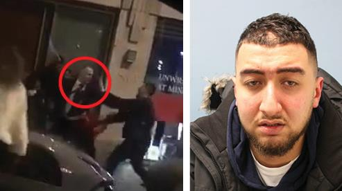 Footage: Mr Simionov (circled) during the brawl and defendant Nor Hamada PICTURES: CENTRAL
