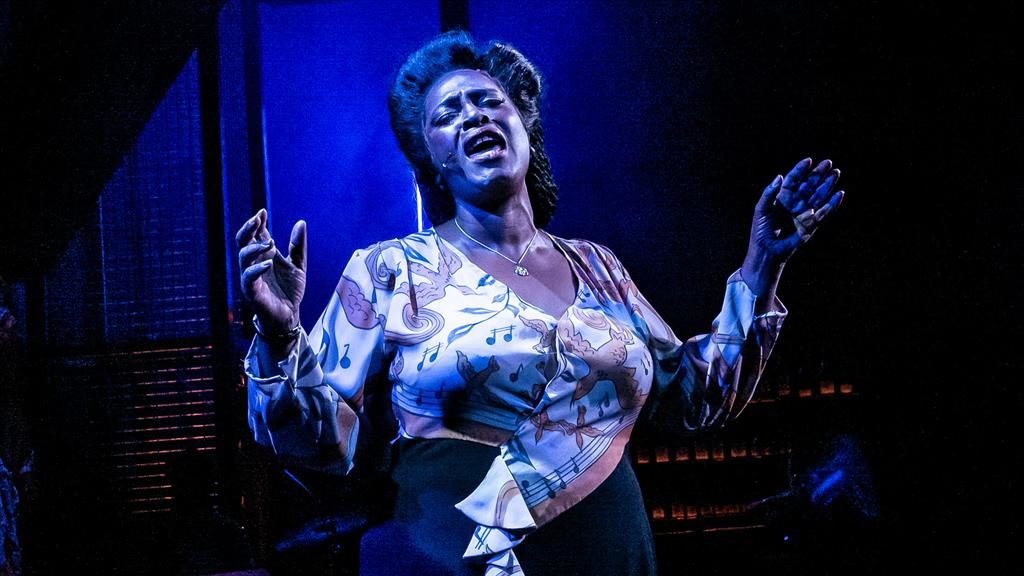 Lady sings the blues: Sharon plays Lady in Blues In The Night PICTURE: MATT HUMPHREY