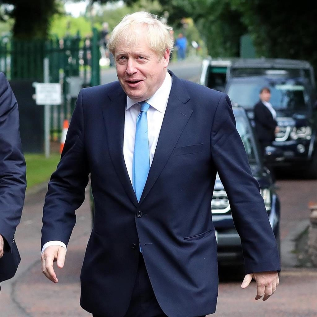 Impartiality: Boris Johnson arrives at Stormont House, Belfast, for talks PICTURE: GETTY