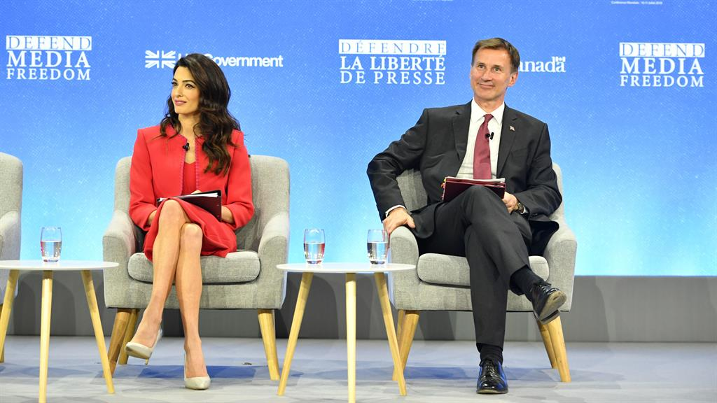 Journalists more at risk than ever, says Amal Clooney