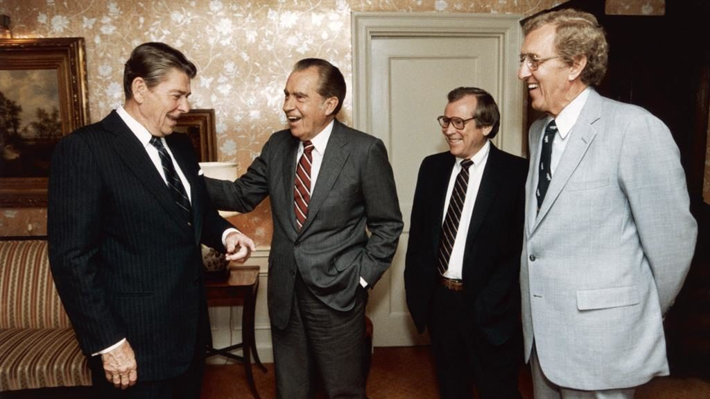 Racist outburst: Ronald Reagan (left) made slurs in phone conversation with Richard Nixon PICTURE: GETTY