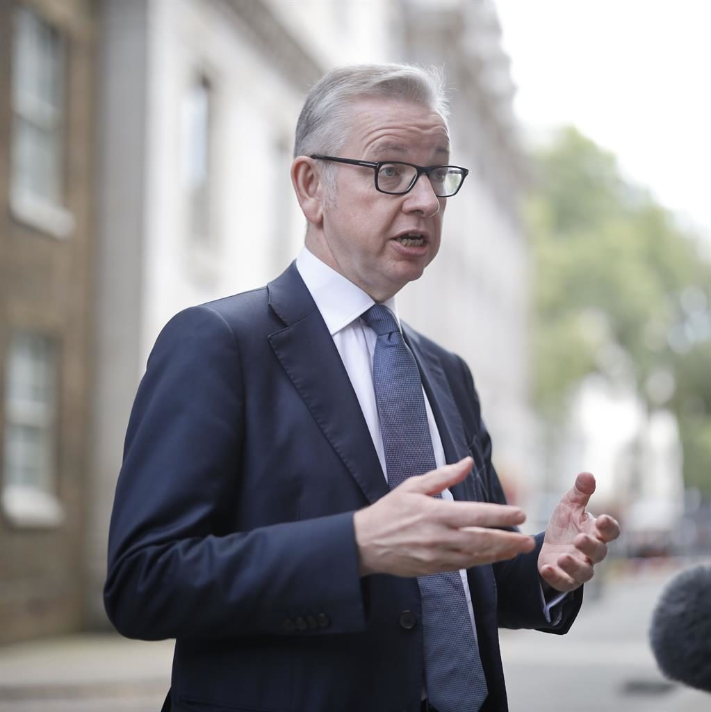 'Deeply saddened': Michael Gove speaks outside No.10 PICTURE: GETTY
