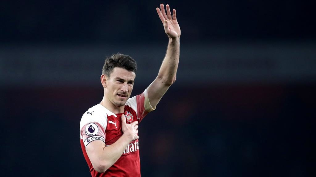 Saying goodbye: Koscielny confirmed his move to Bordeaux on his Twitter feed PICTURE: PA