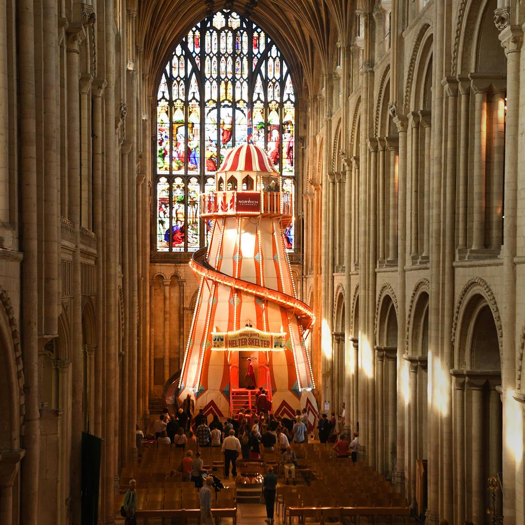 Funhouse of God: Ride was installed to show off the cathedral's roof and broaden its appeal PICTURES: JOE GIDDENS/PA