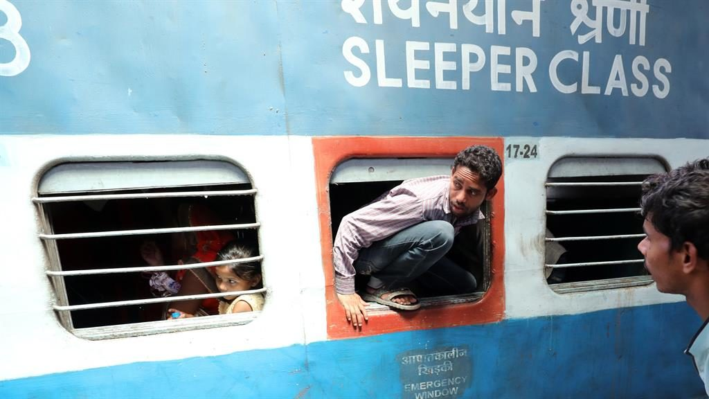 End of line: Pakistan has suspended rail services to stop people fleeing Kashmir PICTURE: EPA
