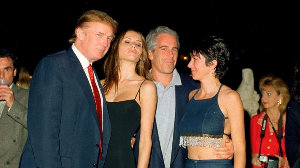 'Falling out': Trump and Melania with Epstein and 'fixer' Maxwell in 2000 PICTURE: GETTY