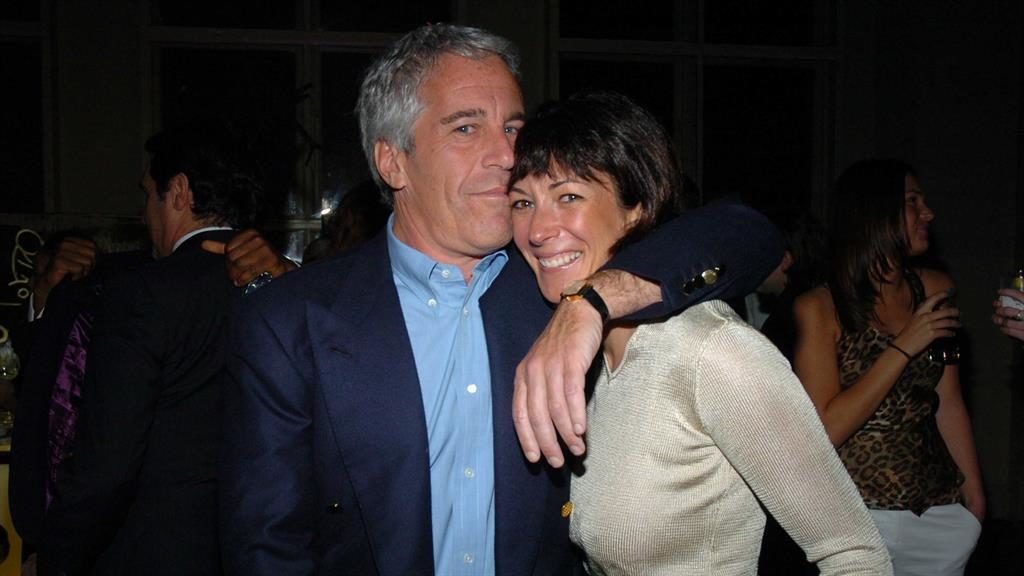 Close: Jeffrey Epstein with Ghislaine Maxwell in 2005 PICTURE: PATRICK McMULLAN/GETTY