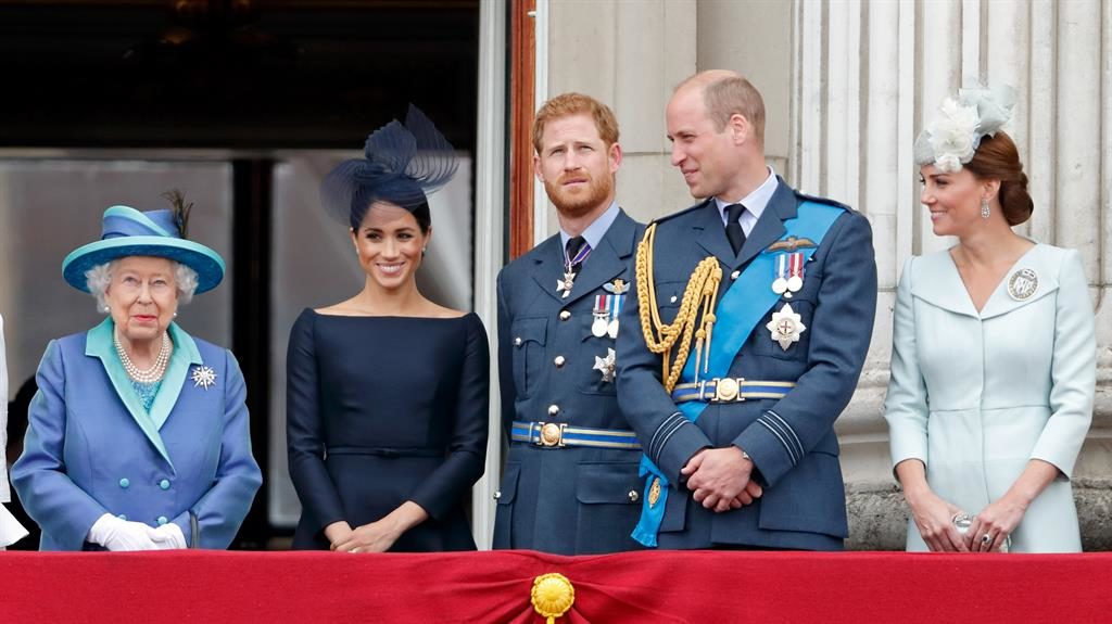 'Awe-inspiring': The Queen with Meghan, Harry, William and Kate PICTURES: GETTY/EPA/REX