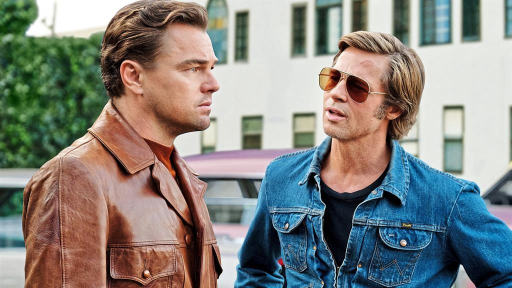 Idol speculation: Leonardo DiCaprio as actor Rick with his stunt double Cliff, played by Brad Pitt