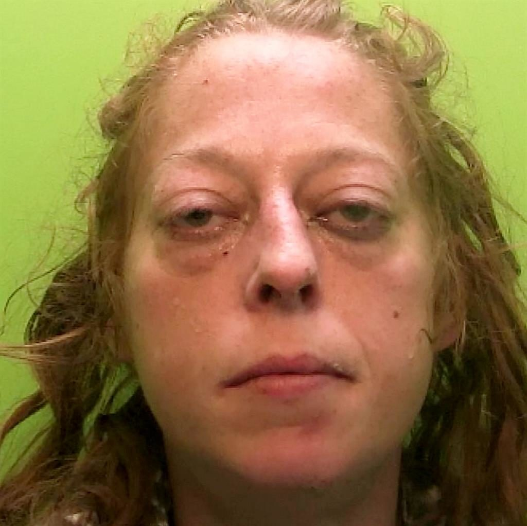 Drugged up: Gemma Peat was smoking in station toilet PICTURES: SWNS