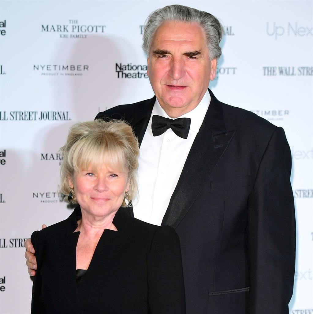 Next level: Imedla with hubby Jim Carter, who she said it was a thrill working with on the new Downton movie PICTURE: PA