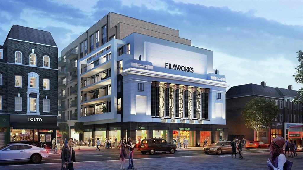 Headline news: The development's title pays tribute to the heritage of the old building and the new cinema constructed within