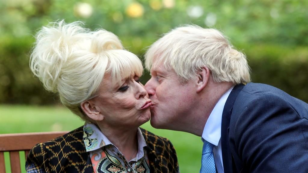 Barbara Windsor delivers dementia demands to United Kingdom leader Boris Johnson