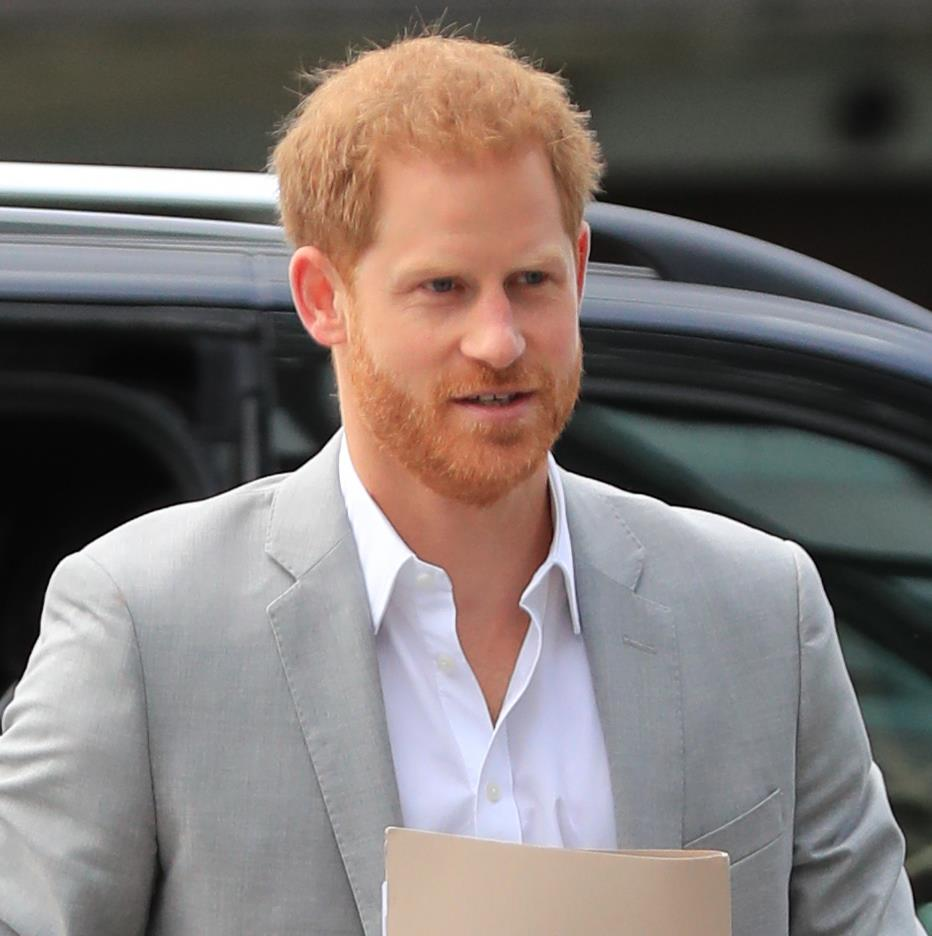Flighting talk: Prince Harry in Amsterdam yesterday PICTURE: PA
