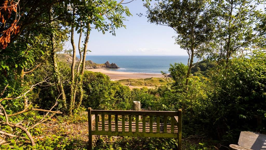 Seat treat: Site boasts stunning views of one of UK's best beaches PICTURE: WALES NEWS