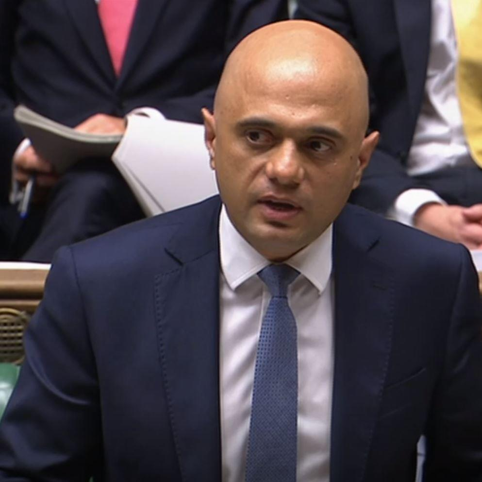 Turning the page: Chancellor Sajid Javid delivers his spending review in the Commons PICTURE: PA