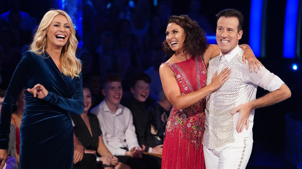 All cha-cha-change: Anton Du Beke told host Tess Daly he might finally have a chance with new dance partner Emma Barton PICTURES: BBC/PA