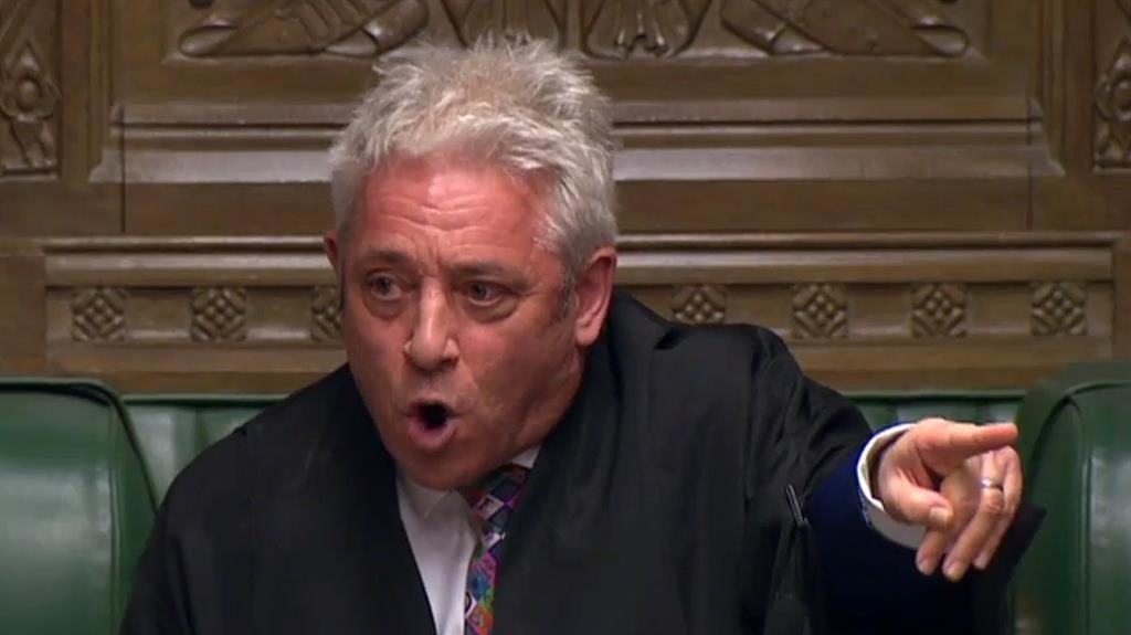 'Flagrant abuse': Speaker John Bercow let MPs take control of the Commons timetable PICTURE:  AFP/GETTY