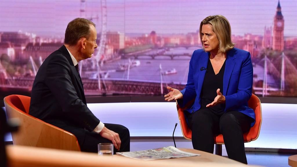 Show time: Amber Rudd tells Andrew Marr why she quit PICTURE: GETTY
