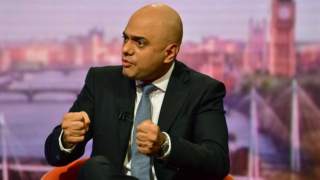 'New ideas': Sajid Javid tells Andrew Marr the government remains committed to an October 31 Brexit PICTURE: GETTY