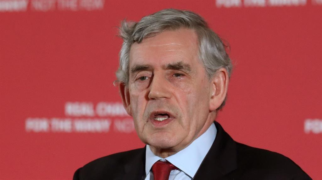 'Own goal': Gordon Brown PICTURE: PA