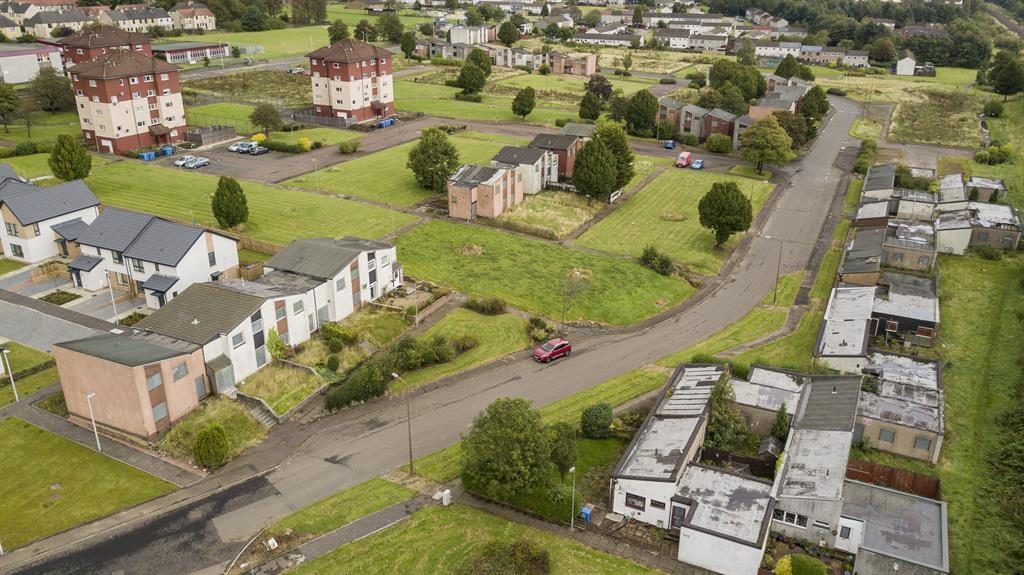 Deserted: Just ten homeowners remain on the Deans South estate in Livingstone, West Lothian
