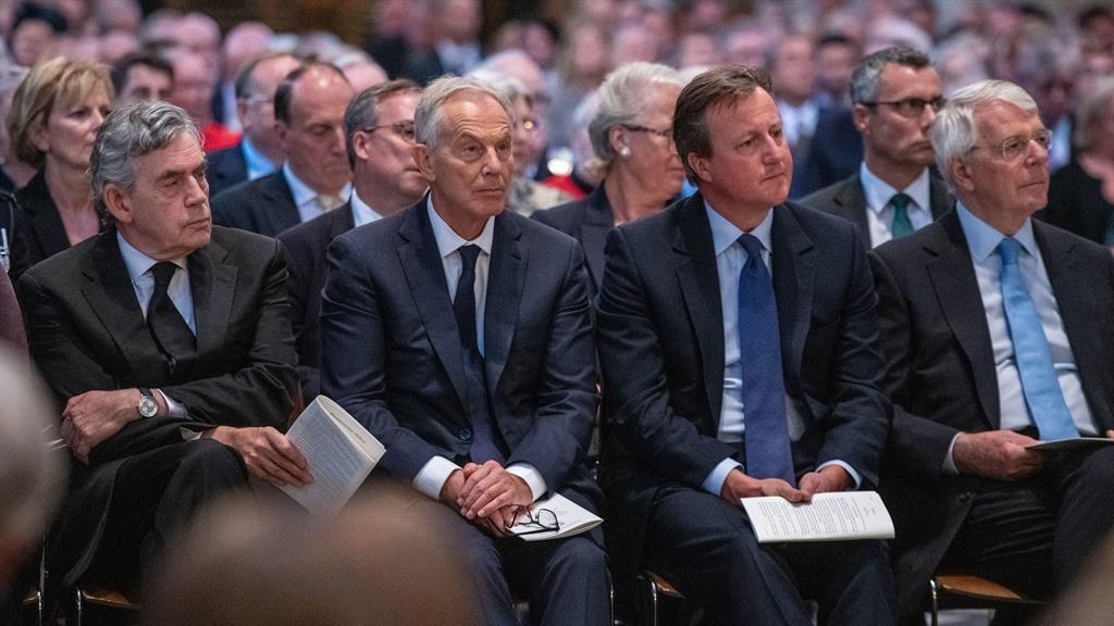 At your service: Gordon Brown, Tony Blair, David Cameron and Sir John Major PICTURE: PA