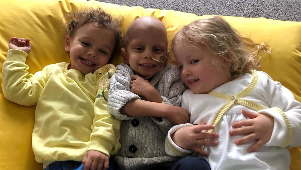 Three is company: IVF triplets Caleb (centre), Alyssia and Poppy were born at 27 weeks PICTURE: SWNS