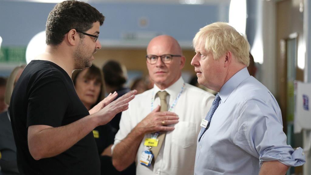 Sick child's parent confronts Boris Johnson