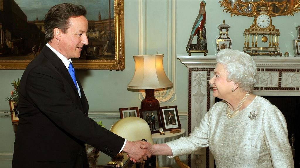 Audience: David Cameron meeting Her Majesty at the Palace in 2010 PICTURE: PA