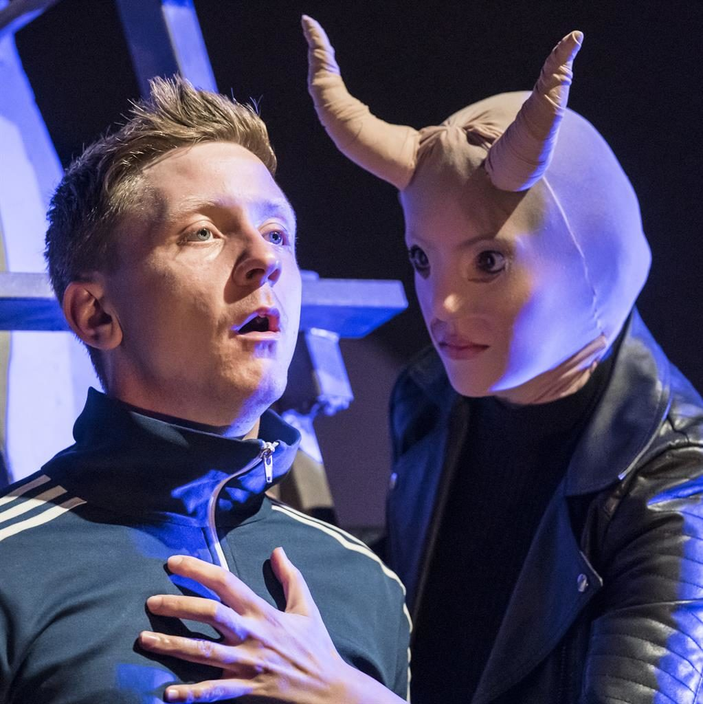 Inner demons: Mike Noble as the struggling Younger Matt (left) with Dilek Rose PICTURE: JOHAN PERSSON