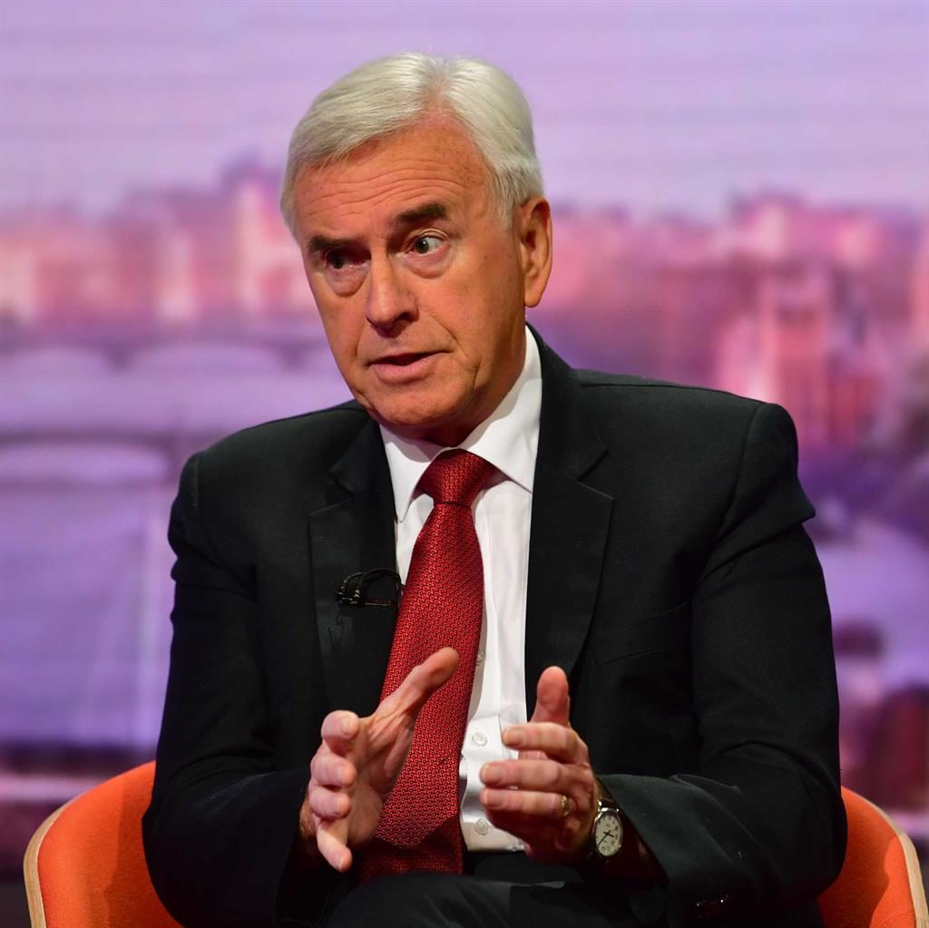 Support: John McDonnell PICTURE: PA
