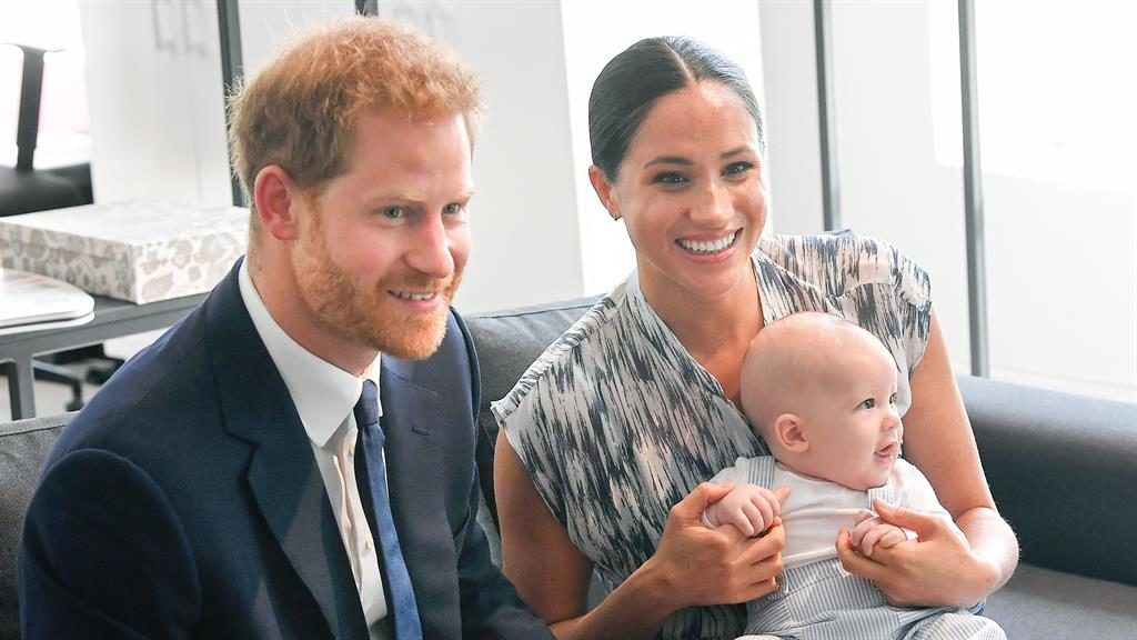 Royals show off baby Archie Harrison in South Africa