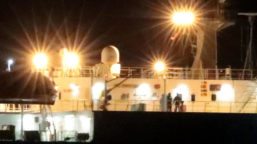 Mission accomplished: Members of the special forces secure the ship after resolving the alleged hijacking