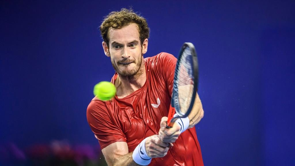 Optimism: Murray can be pleased with his effort PICTURE: GETTY
