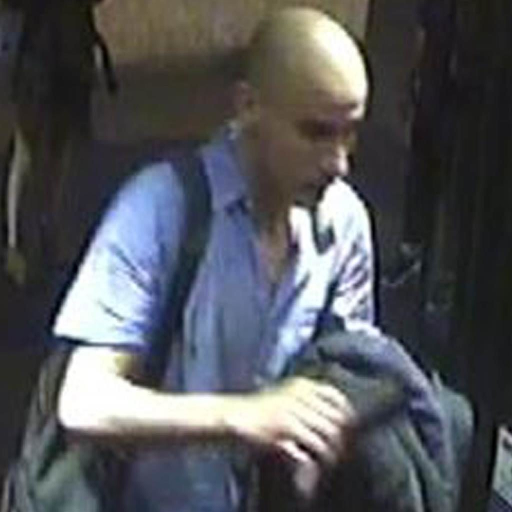 Wanted: Police have released images of this man, suspected of sexual assaults on nine women on buses