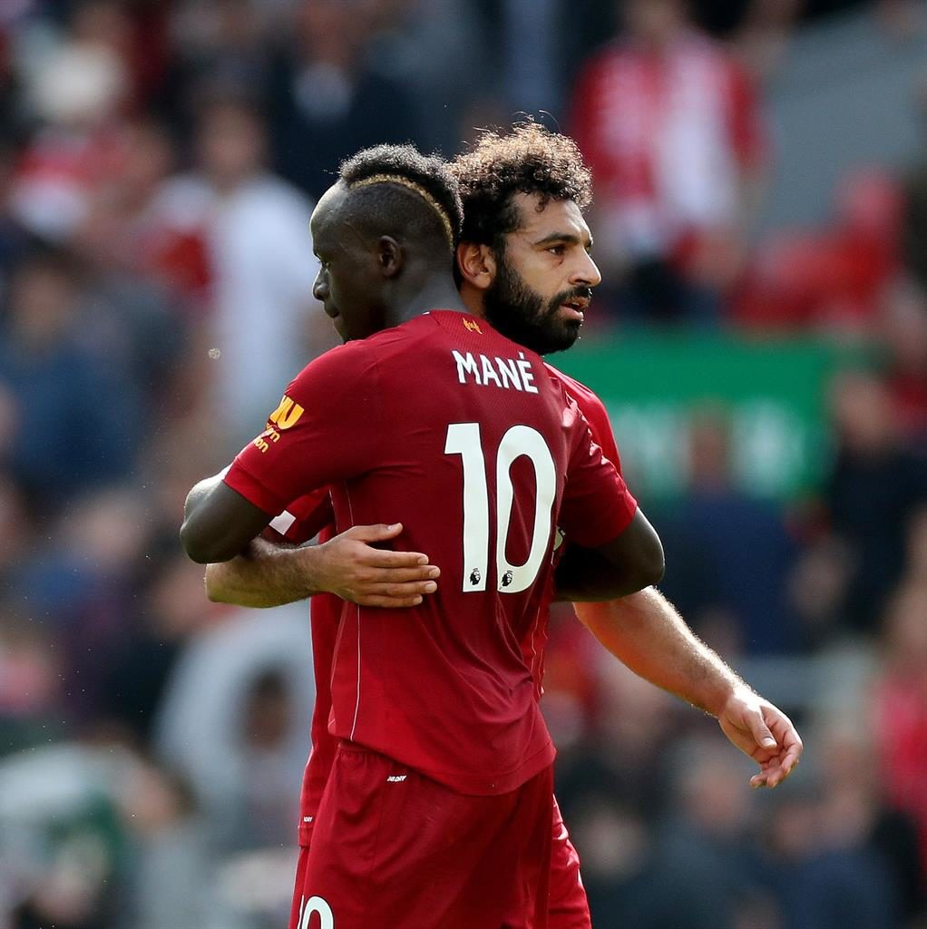Back together: Mane says he has no problem with fellow Liverpool striker Salah