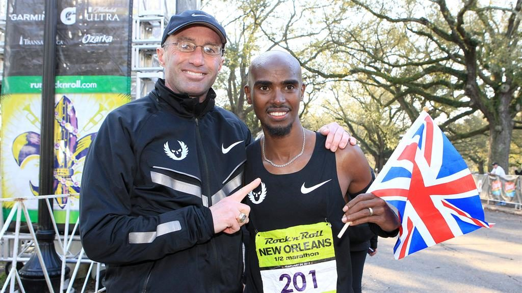 Past glories: Farah (right) with former coach Salazar