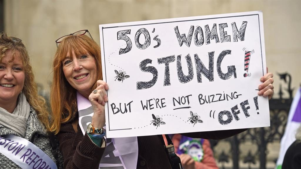 Protest: Campaigners outside court PICTURE: PA