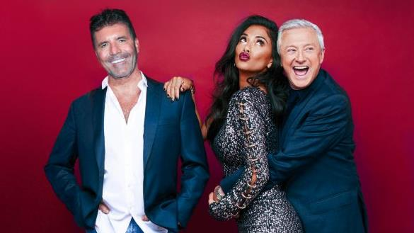 Reunited: Simon will be joined by former judges Nicole Scherzinger and Louis Walsh PICTURE: THAMES/SYCO/REX