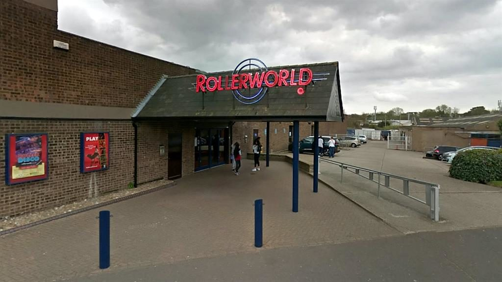 Stormy reception: Rollerworld in Colchester was branded a 'disgrace' after offering actors £10 gift vouchers to perform PICTURES: SWNS