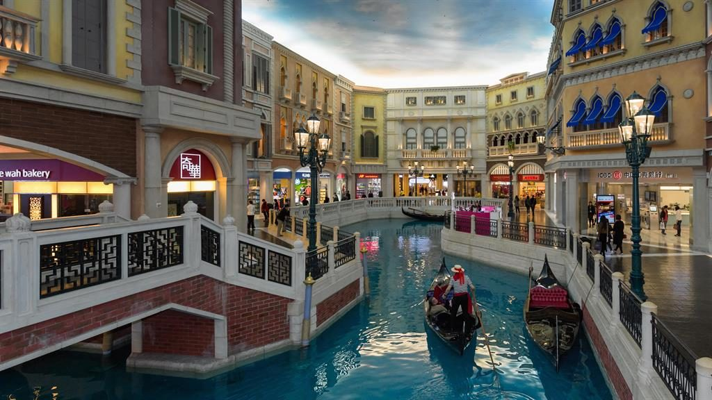 West meets East: Be serenaded on a gondola ride at the Venetian hotel