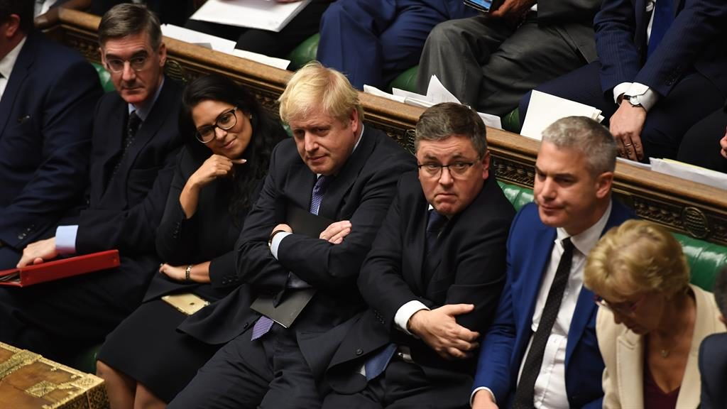 Game of two halves: Boris Johnson during a night of mixed fortunes at Westminster PICTURE: HOC/JESSICA TAYLOR