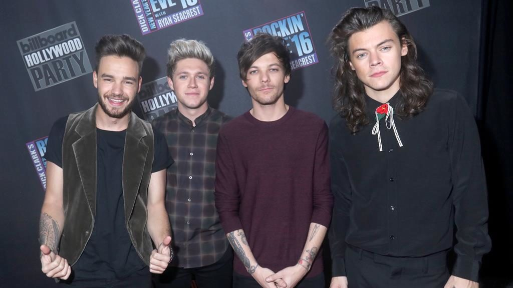 Solo success: Louis with boyband pals Liam Payne, Niall Horan and Harry Styles PICTURE: GETTY