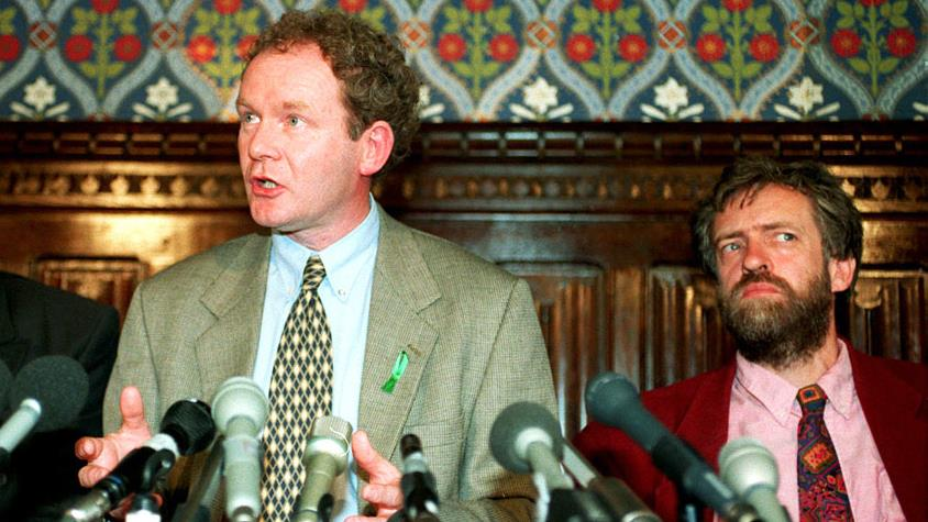 Support: Jeremy Corbyn with Sinn Féin's Martin McGuinness PICTURE: PA