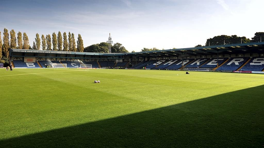Painful: Bury's Gigg Lane ground lies empty while the club dies a slow death PICTURE: CLINT HUGHES
