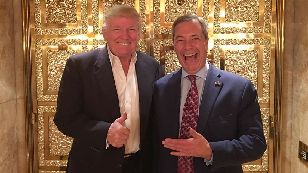 Radio chat Trump and Farage