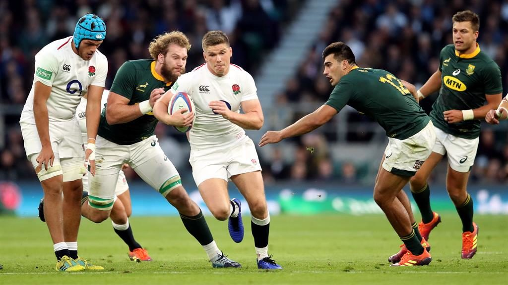 England's Owen Farrell in action during the Autumn International match at Twickenham Stadium, London, 2018 PICTURE: ADAM DAVY / PA