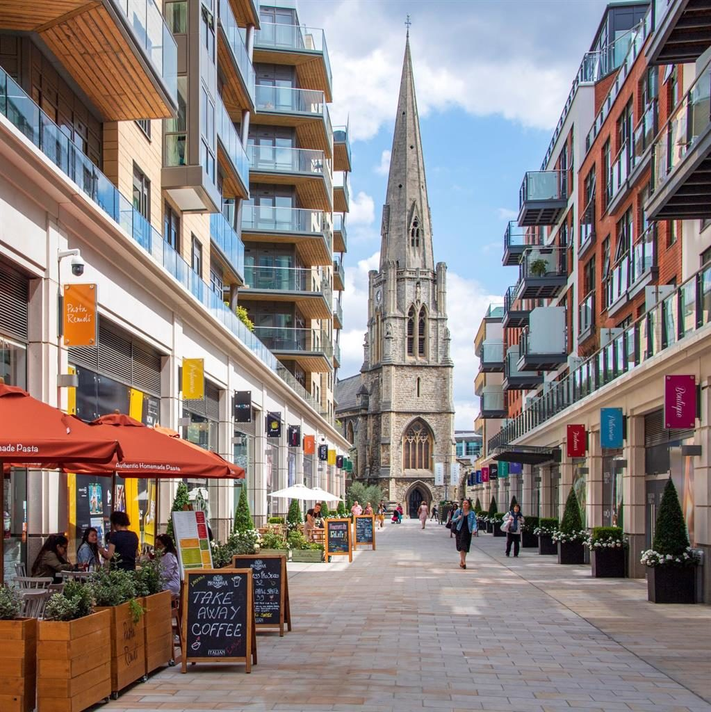 Facelift: Ealing is home to a host of new building schemes and shops